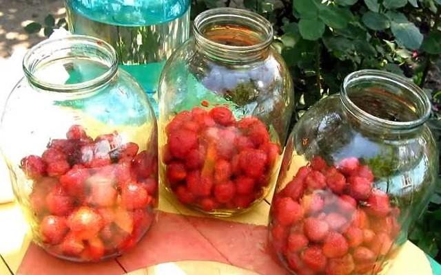 заполнить ягодами