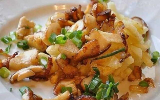 Подосиновики, жаренные с картошкой