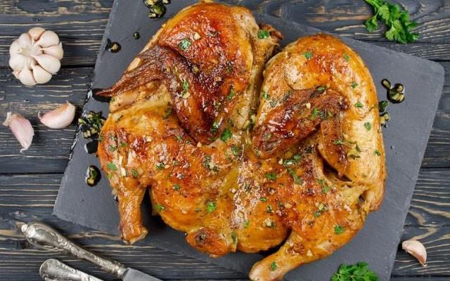 курица в чесночно-соевом маринаде