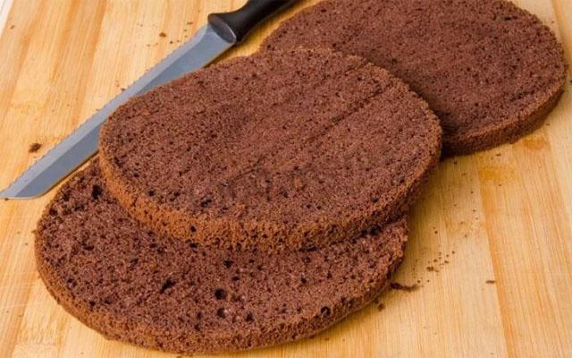 шоколадно-ореховые коржи