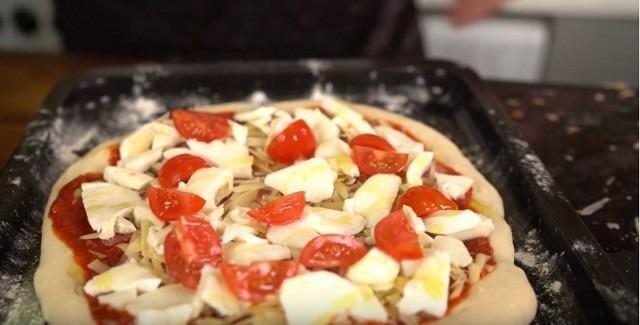 Пицца домашняя рецепт приготовления в духовке с фото