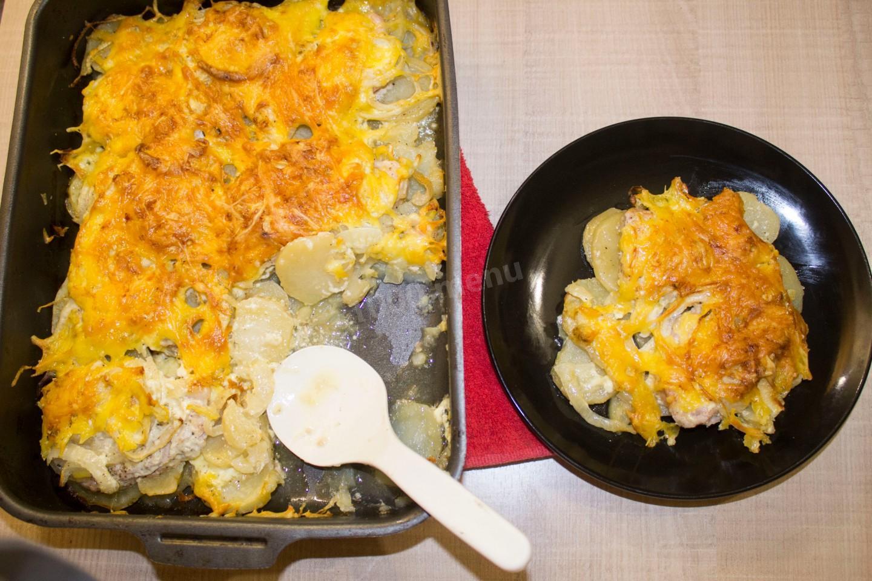 Свинина по французски с картофелем пошагово